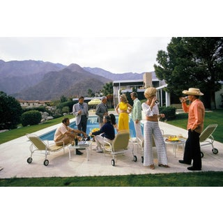 Original New Slim Aarons Desert House Party Photographic Print For Sale