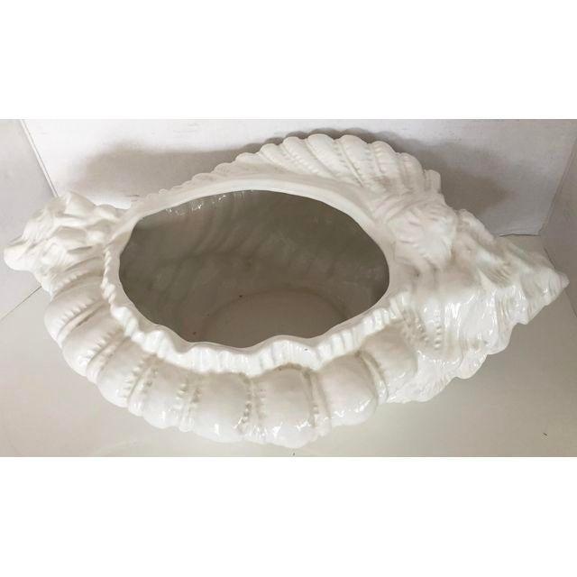 White Porcelain Italian Shell Planter - Image 2 of 8