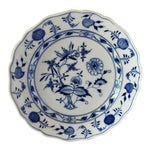 Three Antique Mesissen Porcelain Blue Onion Pattern Cross Swords Platter