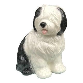 Italian Style Large Ceramic Sheepdog For Sale