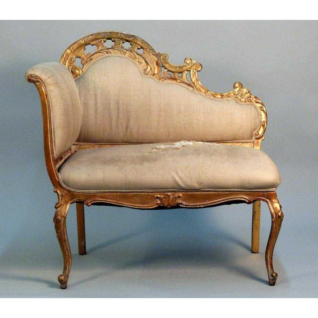 1950s Vintage French Gilt Benches For Sale - Image 4 of 4