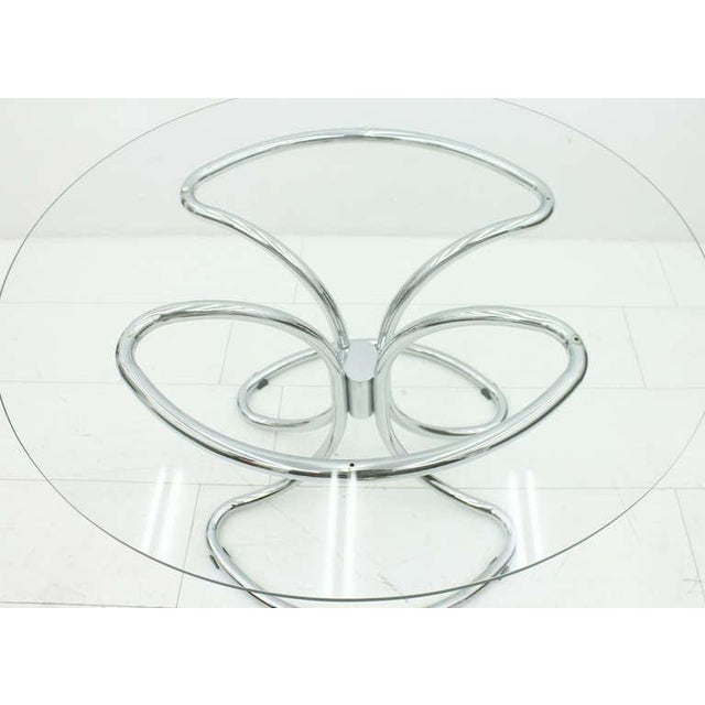 Giotto Stoppino Glass and Steel Tube Dining Table by Giotto Stoppino, Italy 1960`s For Sale - Image 4 of 9