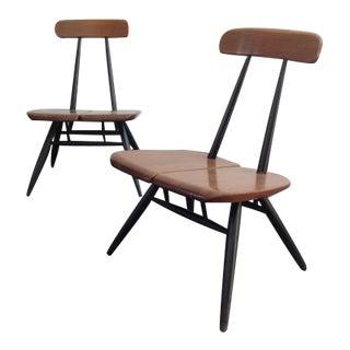 Low Easy Chairs by Ilmari Tapiovaara for Laukaan Puu, 1950s, Set of 2