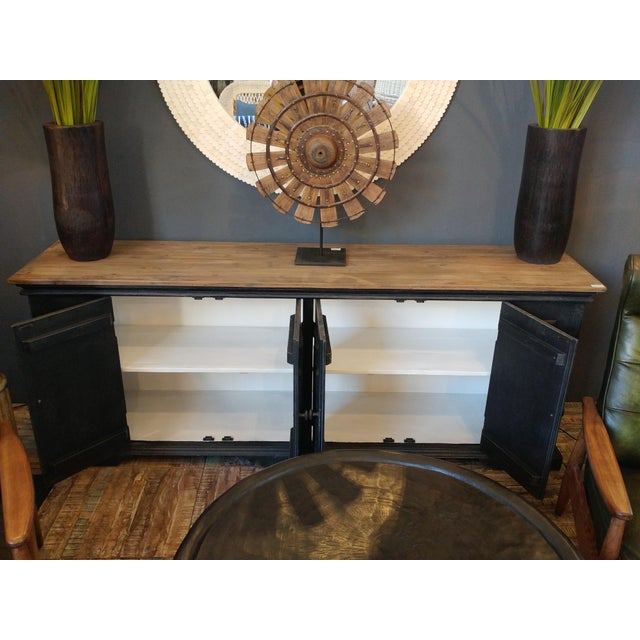 Tan Salvaged Black & Tan Sideboard For Sale - Image 8 of 10