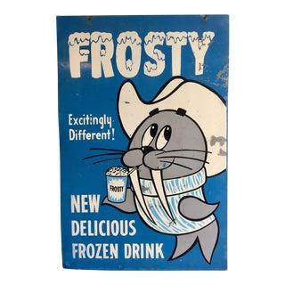 Vintage Frosty Beverage Advertising Sign