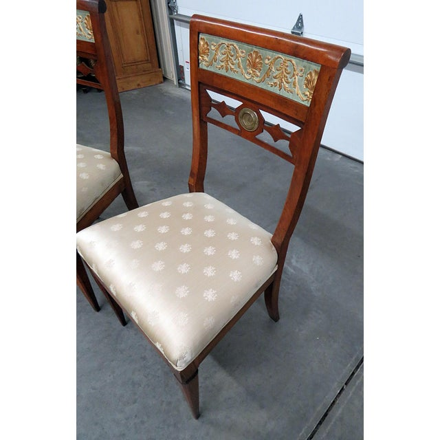 Textile Early 20th Century Antique Austrian Side Chairs- A Pair For Sale - Image 7 of 9