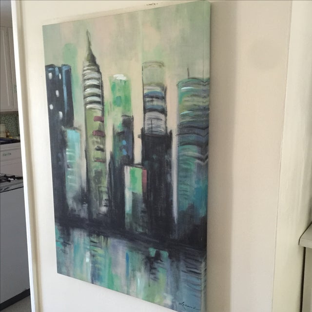 Twilight Cityscape on Canvas - Image 11 of 11