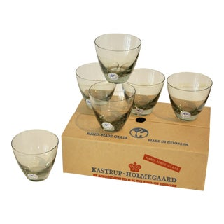 Holmegaard Denmark Cocktail Glasses - Set of 6