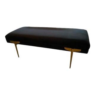 Black Velvet Bench by Tov Furniture For Sale