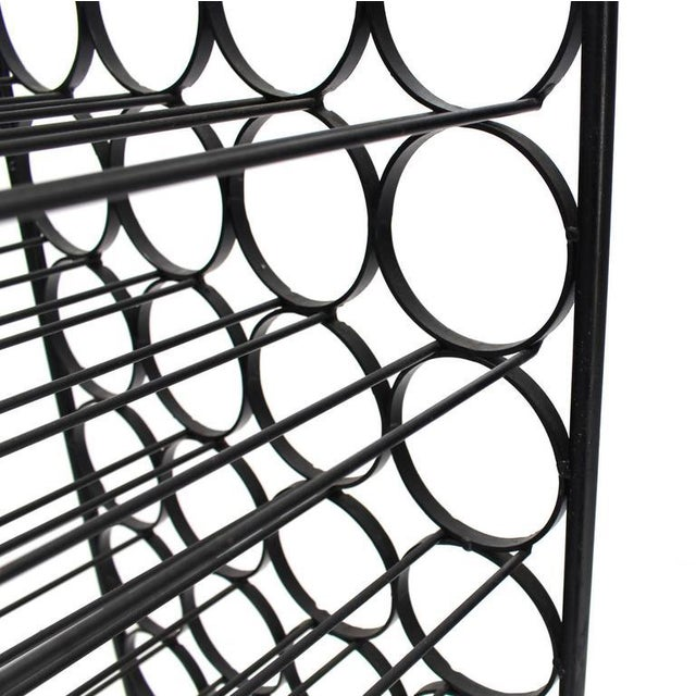 Mid 20th Century Large Tall Wrought Iron Wine Rack For Sale - Image 5 of 7