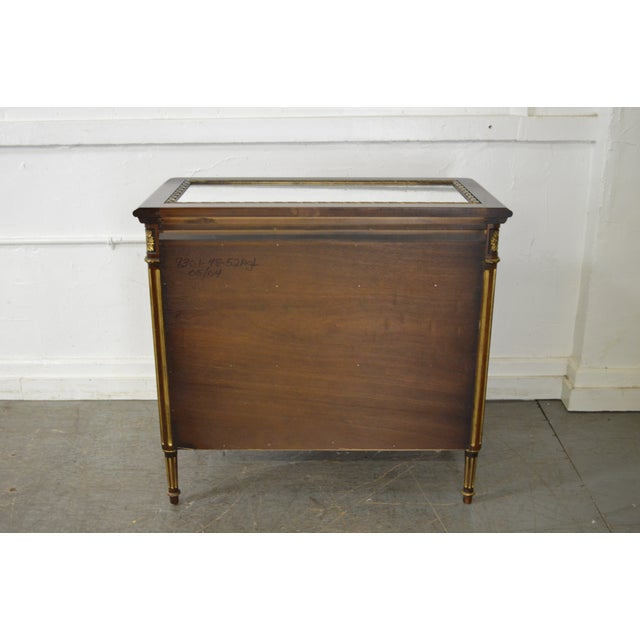 EJ Victor EJ Victor Julia Gray Collection Mirrored Louis XVI Style Chest Commode For Sale - Image 4 of 10