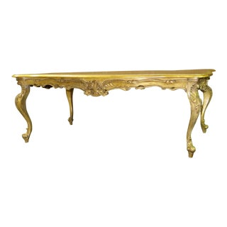1970s Baroque Ornate & Carved Cocktail Table For Sale