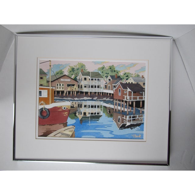 New England Watercolor Painting - Image 8 of 8