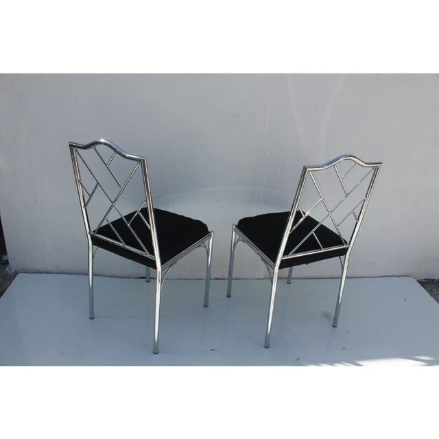 Vintage Chrome Dining Chairs - Pair - Image 7 of 7