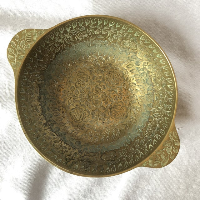 Brass Etched Bowl Home & Living