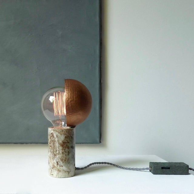 Marble Table Lamps, Sander Bottinga For Sale - Image 6 of 9