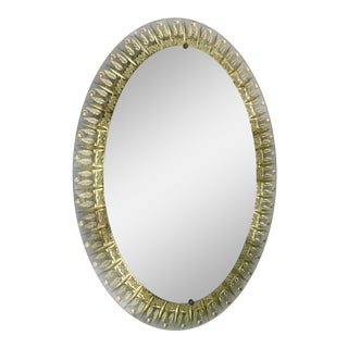 Cristal Art Oval Mirror For Sale