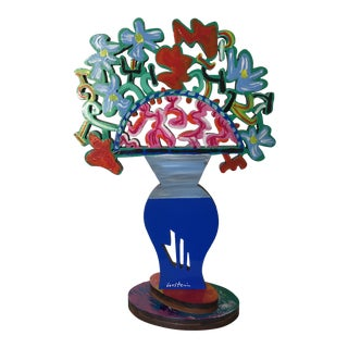 "1990s Abstract David Gertstein ""Royal Flowers"" Sculpture For Sale"