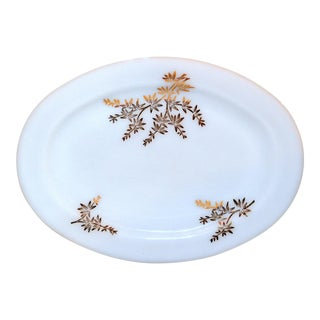 "Federal ""Golden Glory"" Milk Glass Platter For Sale"