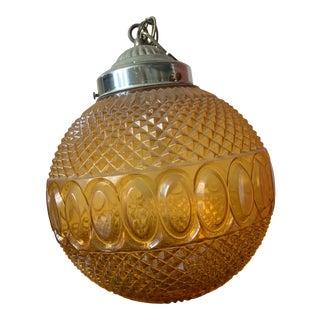 1960s Vintage Orange Glass Swag Lamp For Sale