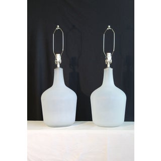 Vintage Large Scale1970's Seguso Influence Table Lamps - a Pair Preview