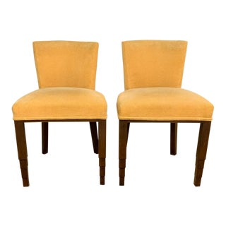 Pair, Art Deco Chairs in Yellow For Sale