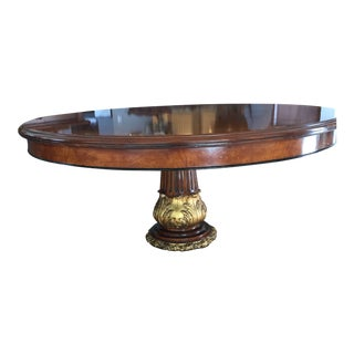 Italian Briar of Myrtle With Satinwood Banding Custom Dining Room Table For Sale