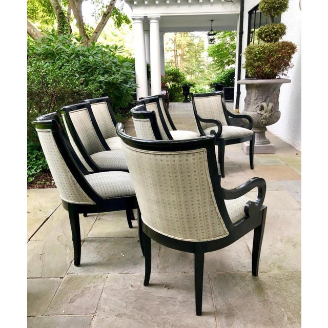 Black Lacquer Dining Room Chairs: Contemporary Black Lacquer Dining Chairs - Set Of 8