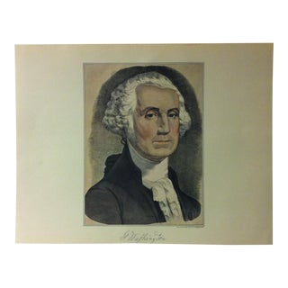 "Currier & Ives American Print, ""G. Washington"" by Crown Publishers, Circa 1950 For Sale"