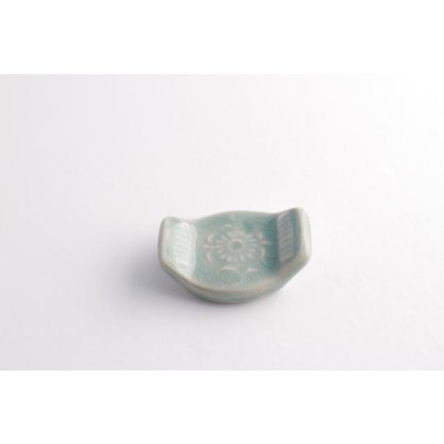 Vintage Asian Ceramic Celadon Chopstick Rests - Set of 6 - Image 7 of 10
