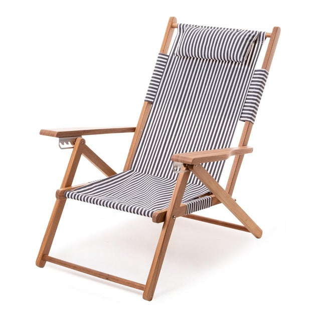 Tommy Outdoor Chair - Lauren's Navy Stripe For Sale In Los Angeles - Image 6 of 6