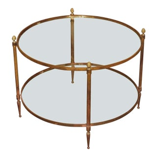 Mid-Century Round Cocktail Table For Sale