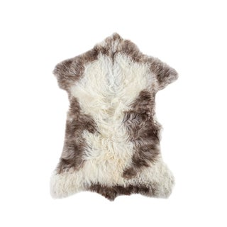 "Contemporary Long Soft Wool Sheepskin Pelt - 2'4"" X 3'1"""