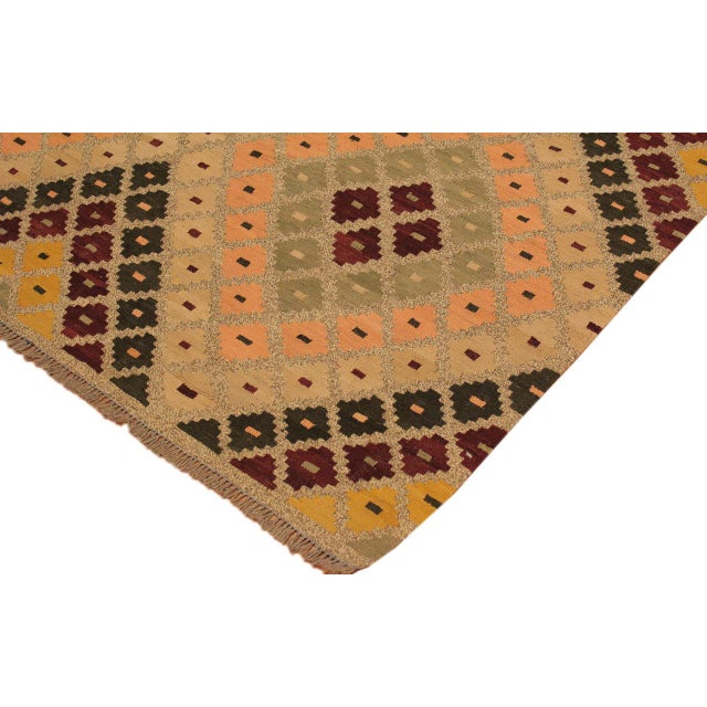 Raymon Gray/Black Hand-Woven Kilim Wool Rug -5'4 X 6'8 For Sale - Image 4 of 8