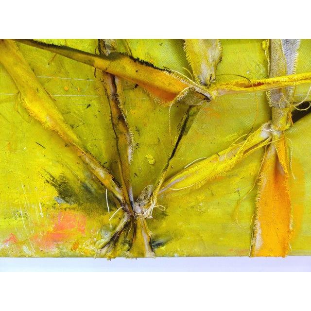 """Alfredo Ulloa """"Pierre (Yellow #1)"""" Abstract Painting - Image 5 of 8"""