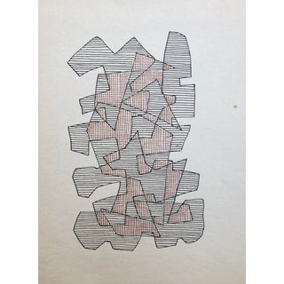 1989 William Glen Davis Abstract Drawing For Sale