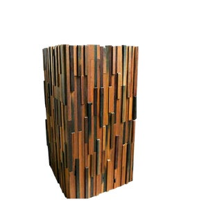 Modern Decorative Reclaimed Wood Planter For Sale