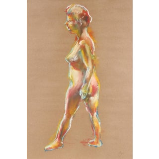 Standing Figure in Pastel, 1970 For Sale