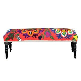 Vintage Suzani Nurata Bench For Sale