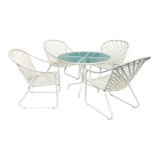 Brown Jordan Timiami Patio Table & 4 Chairs For Sale