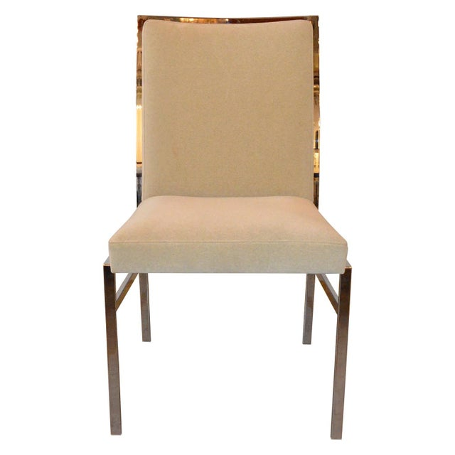 S/6 Mid Century Modern Chrome and Upholstery Pierre Cardin Dining Chairs / Side Chairs - Image 5 of 12