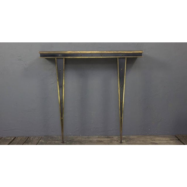 Italian Mid-Century Italian Console and Mirror by Charles PiGuet For Sale - Image 3 of 11