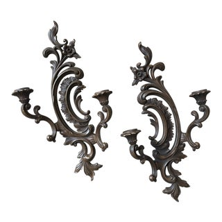 1960s Syroco Wall Sconces - A Pair