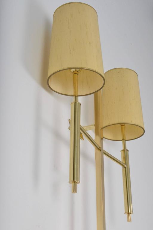 Large Modernist Brass Wall Sconce, USA, Circa 1970s   Image 5 Of 6