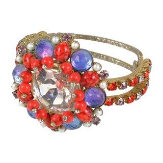 Headlight Rhinestone Clamp Bracelet For Sale