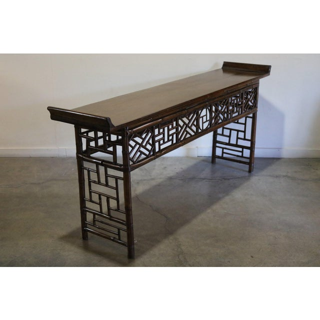 Bamboo altar table from Jiangsu province China 19th c.