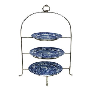 English Spode Afternoon Tea Set, 4 Pc For Sale
