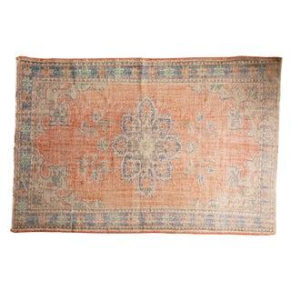 "Vintage Distressed Oushak Carpet - 6'3"" X 9'5"" For Sale"