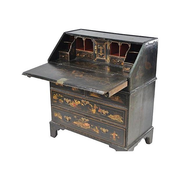 Antique 19th-C. English Chinoiserie Desk - Image 3 of 6