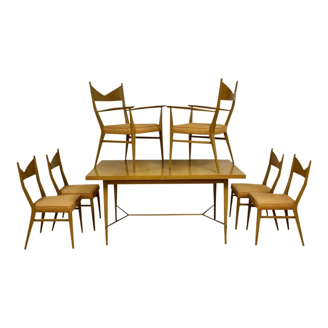 Dining Table and Chairs by Paul McCobb - Set of 7 For Sale